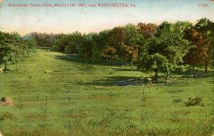 VA - Winchester. Kernstown Battle Field, March 23, 1862. (Virginia) card is d...