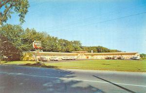 Saco ME Saco Motel on US ! Old Cars Postcard