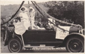 RP: KAMLOOPS , B.C. , Canada , 1923 ; Dominion Day QUEEN Float
