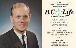 B.C. Life Insurance Agent , VANCOUVER , B.C. , Canada , 1950-60s