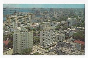 Puerto Rico Aerial View San Juan from Hotel Darlington Vintage 1971 Postcard