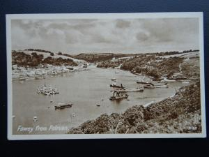 Cornwall POLRUAN from Fowey c1940's Postcard by Photo Precision 3167