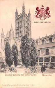 Scotland, UK Old Vintage Antique Post Card Gloucester Cathedral from Cloister...