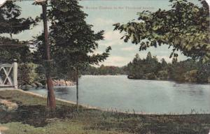 New York Narrow Channel In The Thousand Islands 1910
