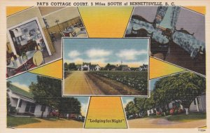 South Carolina Bennettsville Pat's Cottage Court  Multi View sk1473