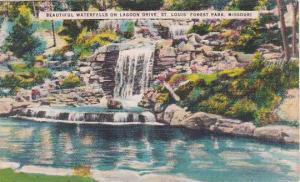 Missouri Saint Louis Beautiful Waterfalls On Lagoon Drive Saint Louis Forest ...