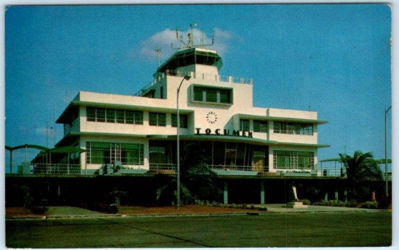 PANAMA CITY Administration Building  INTERNATIONAL AIRPORT at TOCUMEN  Postcard