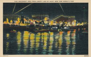 NYC , World's Fair , 1930s ; Amusement Area at night