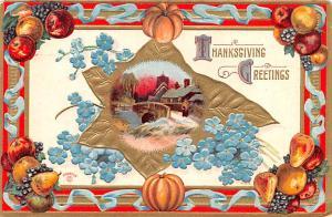 Thanksgiving Postcard Old Vintage Antique Post Card