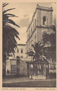 Azores Ihla Terceira Jardin e Igreja do Colegio