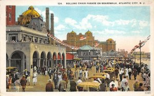 nj-atlantic_city Rolling Chair Parade on the Boardwalk 1927