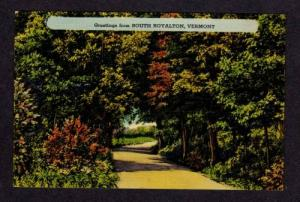 VT Greetings from SOUTH ROYALTON VERMONT Postcard PC