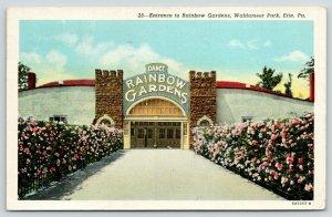 Erie Pennsylvania~Waldameer Amusement Park~Rainbow Gardens Dance Pavilion~1945
