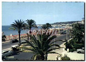 Modern Reflections Postcard of the French Riviera Nice Promenade des Anglais