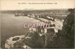Old Postcard General Nice View from Castle