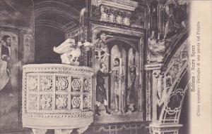 Chiesa Superiore, Dettaglio Di Una Parete Col Pulpito, Sacro Speco, SUBIACO (...