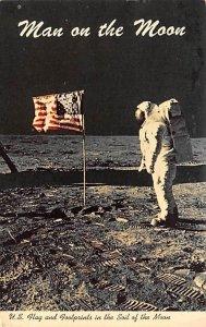 Man on the moon Space 1970
