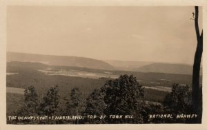 RP; Top Of Town Hill, The Beauty Spot Of Maryland, Allegany County, MD, 1920s
