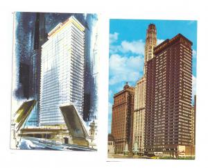 Chicago Executive House Hotel 2 Vintage Illinois Hotel Postcards