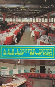 KEY WEST , Florida , 50-60s ; A & B Lobster House, 700 Front Street, 2-views