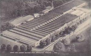 Vermont Springfield Jones and Lamson Machine Shop