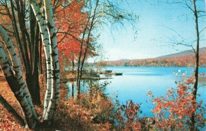 Postcard October at Fairview Lake Sussex County New Jersey