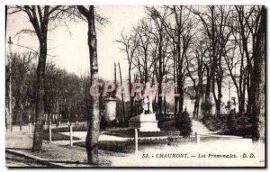 Old Postcard Chaumont walks