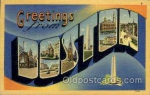 Boston, Massachusetts, USA Large Letter USA Town Writing on back close to per...