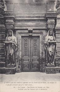 PARIS, France, 1900-1910's; La Crypte, Les Portes De Bronze, Par Etex Fondues...