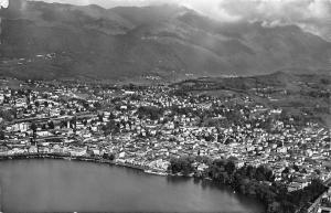 Switzerland Lugano Veduta aerea Panorama Lake