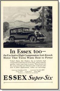 Stylish 1927 Essex Super-Six Car/Auto/Automobile Ad
