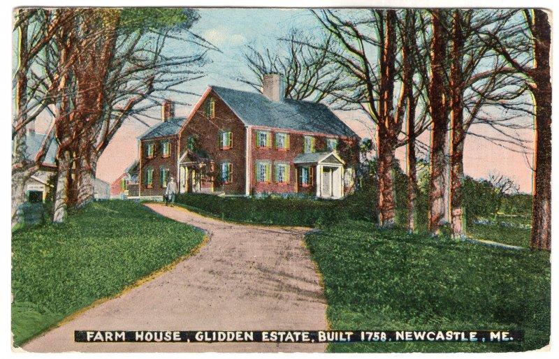 Newcastle, Me, Fam House, Glidden Estate, Built 1758