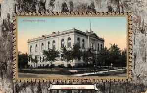 Carnegie Library, Winnipeg, Manitoba, Canada ca 1910s Vintage Postcard