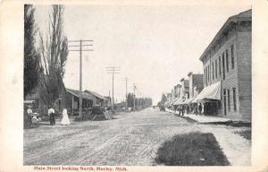 Morley Michigan Main Street Looking North Antique Postcard J46987