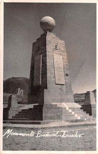 Monumento Ecuational Ecuador, Republica del Ecuador 1955