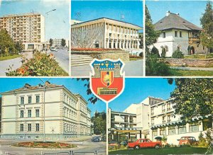 Romania Suceava city's images collection Postcard crest