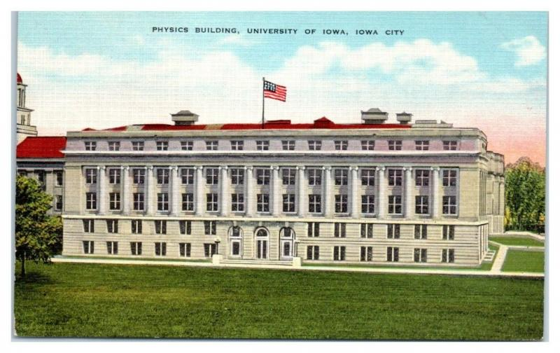 Physics Building, University of Iowa, Iowa City, IA Postcard