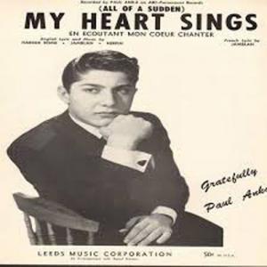 My Heart Sings American Paul Anka XL Sheet Music