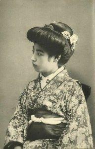 japan, Beautiful Geisha Lady in Kimono (1910s) Naniwaya Co, Kanda Postcard