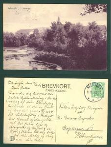 Denmark. Postcard  1914.  Marienlyst. Helsingør. Park. Posted