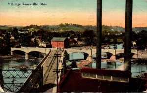 Ohio Zanesville Y Bridge 1910