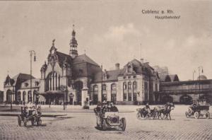 Coblenz (Rhineland-Palatinate), Germany, 1900-1910s Hauptbahnhof