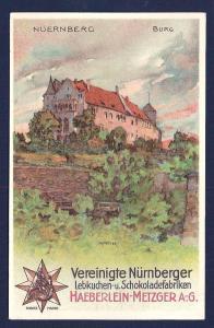 Nuernberg Haeberlin Cookie Chocolate Factory unused c1910's