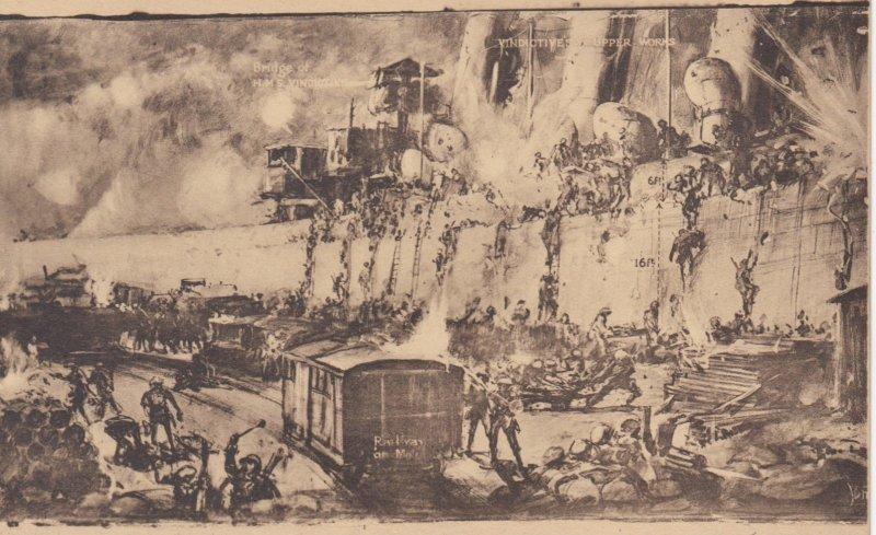 War 1914-18 ; Zeebrugge , Storming the Mole