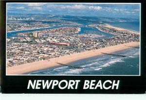 Florida Newport Beach Oceanfront Aerial Shores Ocean Town  Postcard  # 6858