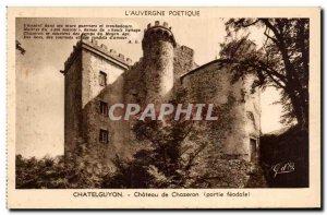 Old Postcard Chatelguyon Chateau Chazeron