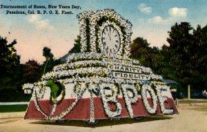 Pasadena, California - Tournament of Roses Parade - B.P.O.E. (Elks) Float -c1909