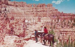 Horseback Riders At Wall Of Windows Bryce Canton National Park Utah