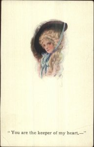 Scarce Harrison Fisher YOU ARE THE KEEPER OF MY HEART - Book Advertising PC
