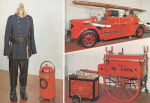 Sandringham Fire Brigade Uniform Engines Postcard